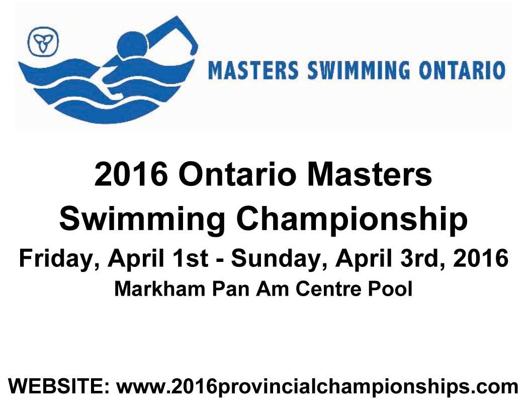 2016 Ontario Masters Swimming Championship